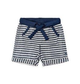 Cotton Knit Shorts Blue Stripe