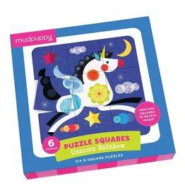 Mudpuppy Unicorn Rainbow Puzzle Squares