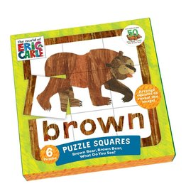 Brown Bear Puzzle Squares