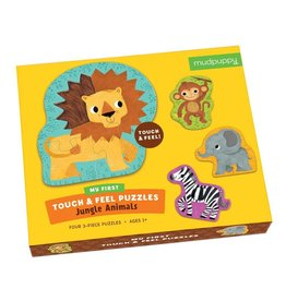 Mudpuppy Jungle Animals Touch & Feel Puzzle