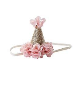 Bailey's Blossoms Birthday Cone Crown - Blush