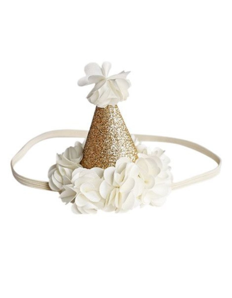 Bailey's Blossoms Birthday Cone Crown - Ivory