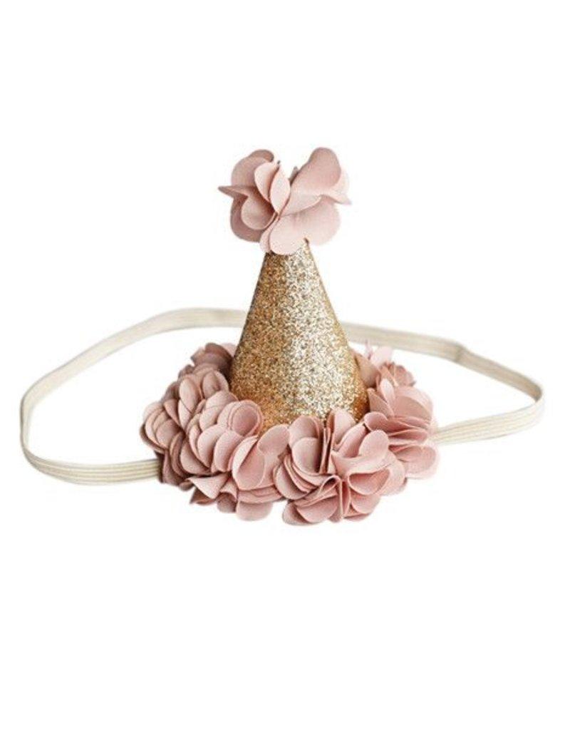 Bailey's Blossoms Birthday Cone Crown - Mauve