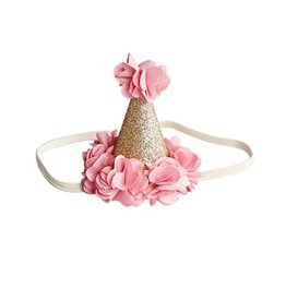 Bailey's Blossoms Birthday Cone Crown - Pink