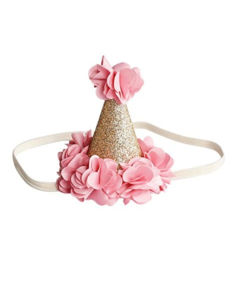 Birthday Cone Crown - Pink