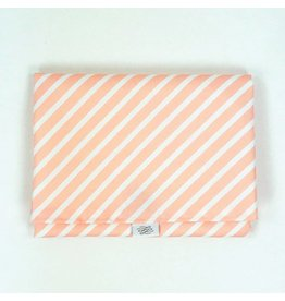 Logan + Lenora Simple Change Pad - Blush Stripe