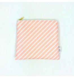Logan + Lenora Petit Pouch - Blush Stripe
