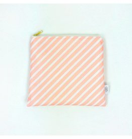 Petit Pouch - Blush Stripe