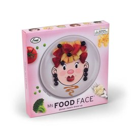 Fred Ms. Food Face Dinner Plate