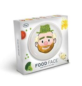 Fred Fred Food Face Dinner Plate
