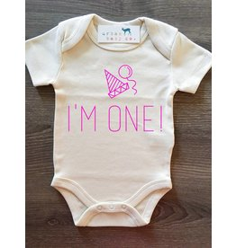 Urban Baby Co I'm One! Pink