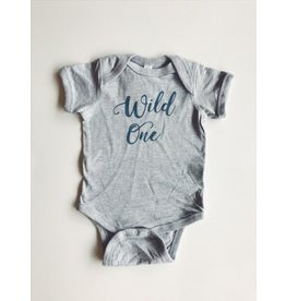 ND Tshirt Co Wild One Onesie - Blue 12-18m
