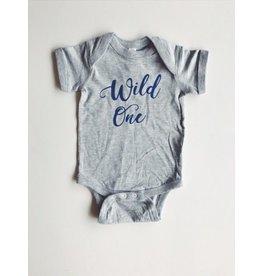 ND Tshirt Co Wild One Onesie - Bold Blue 6-12m