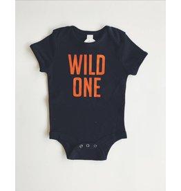 ND Tshirt Co Wild One Onesie - Orange 12-18m