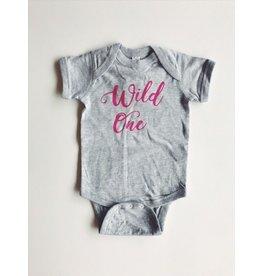 ND Tshirt Co Wild One Onesie - Pink 6-12m