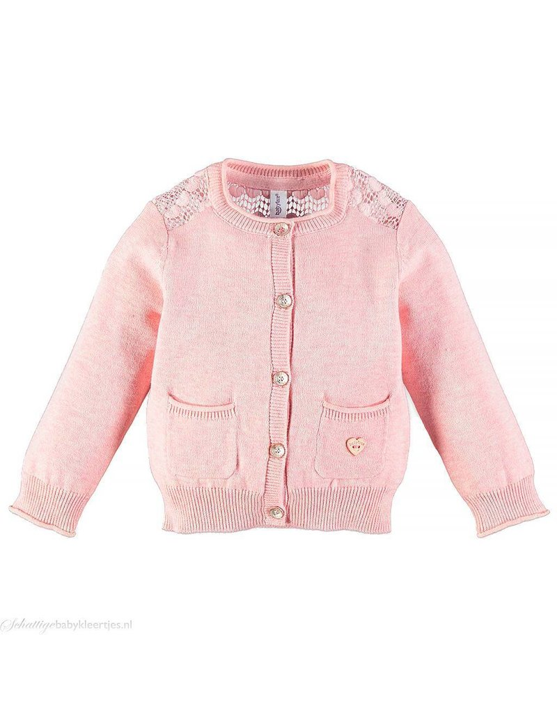 Delicate Lace Cardigan - Pink - Lily Valley Baby