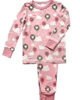 Silkberry Baby Bamboo Pajama Set Pink Cloud Air Balloon