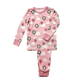 Bamboo Pajama Set Pink Cloud Air Balloon