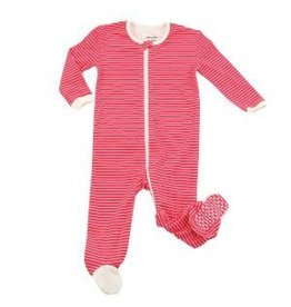Silkberry Baby Organic Cotton Footie Candy Cane Stripe