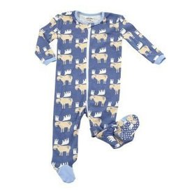 Silkberry Baby Organic Cotton Footie Moose
