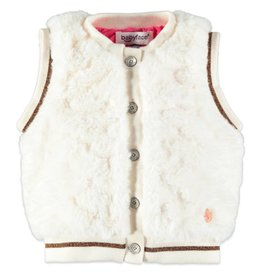 Faux Fur Vest - White