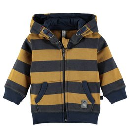 Boys Sweat Cardigan - Blue Graphite