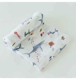 Little Unicorn Cotton Swaddle - Shark