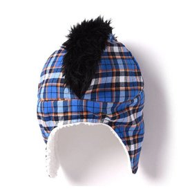 Kapital K Mohawk Hat - Blue Royale Plaid