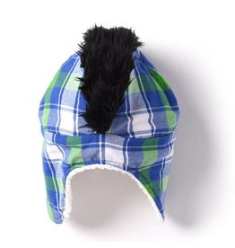 Kapital K Mohawk Hat - Wonder Blue Plaid