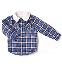 Plaid Flannel Jacket - Blue Royale
