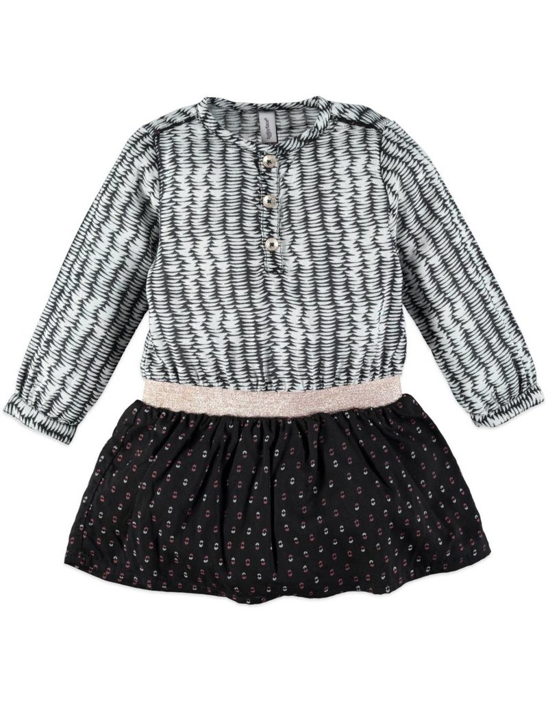 Babyface Black & White Ruffle Dress