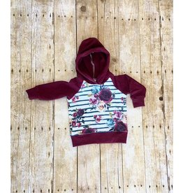 Quiver Full of Children Burgundy Floral Hoodie