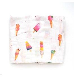 Loulou Lollipop Ice Cream Cone Crib Sheet