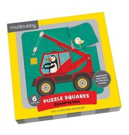 Mudpuppy Construction Puzzle Squares
