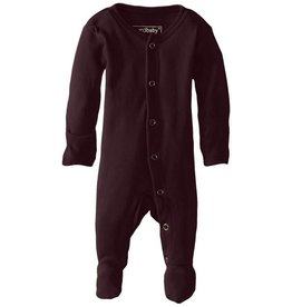 L'oved Baby Organic Footed Sleeper, Eggplant