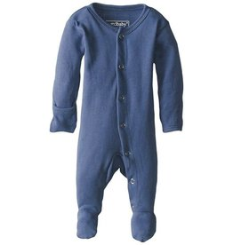 L'oved Baby Organic Footed Sleeper, Slate