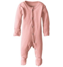 L'oved Baby Organic Footed Sleeper, Coral
