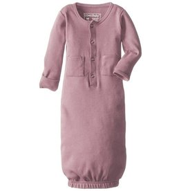 L'oved Baby Organic Gown Sleeper, Mauve