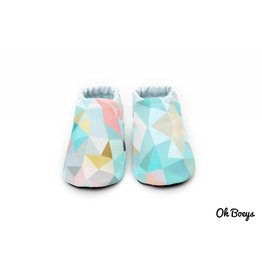 Oh Boeys Aqua Geometry Booties