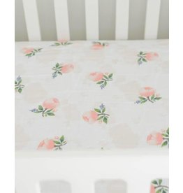 Brushed Crib Sheet - Watercolor Rose