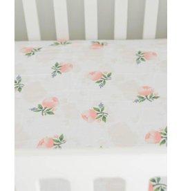 Little Unicorn Brushed Crib Sheet - Watercolor Rose