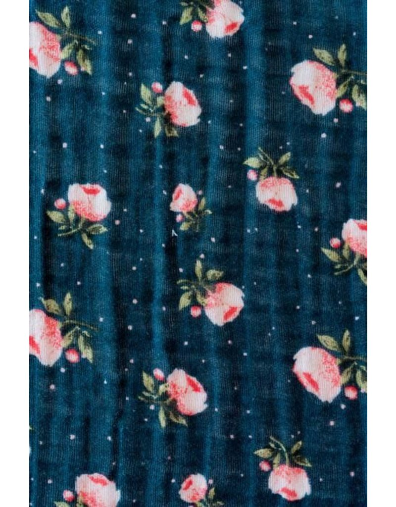 Little Unicorn Cotton Swaddle - Midnight Rose