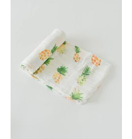 Little Unicorn Deluxe Muslin Swaddle - Pineapple