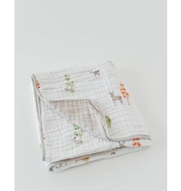 Cotton Muslin Quilt - Oh Deer