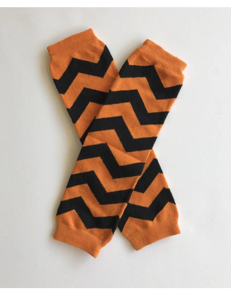 halloween chevron leg warmers