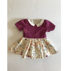 Fall Collared Dress with Back Sash, 3-6m