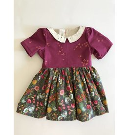 Fall Collared Dress with Back Sash, 12-18m