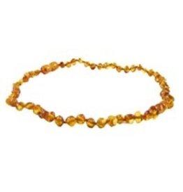 """Amber Monkey Teething Necklace - Honey 13"""""""