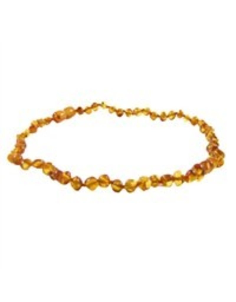 Amber Monkey Teething Necklace - Honey 13""