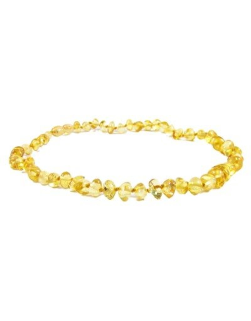 Amber Monkey Teething Necklace - Lemon 10""
